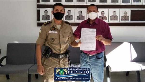 PREFEITO PROTOCOLA OFÍCIO SOLICITANDO AMPLIAÇÃO POLICIAMENTO NO COMBATE AO COVID - 19