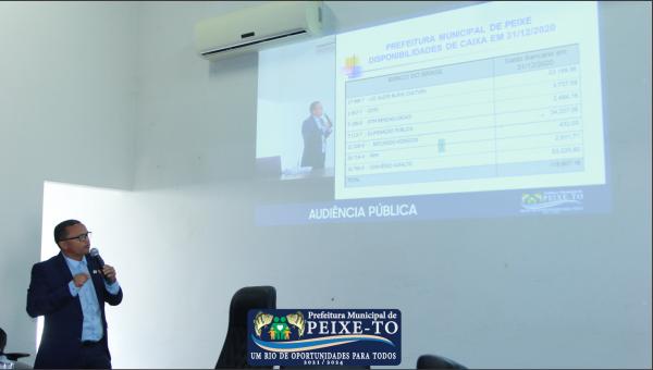 PREFEITURA ESCLARECE EM AUDIÊNCIA PÚBLICA DÍVIDAS E REAL SITUAÇÃO FINANCEIRA DO MUNICÍPIO