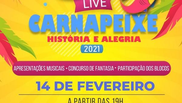 SECRETARIA DE CULTURA E TURISMO LANÇA CONCURSO  COM PREMIAÇÃO DE MELHOR FANTASIA PARA LIVE DO CARNAPEIXE 2021